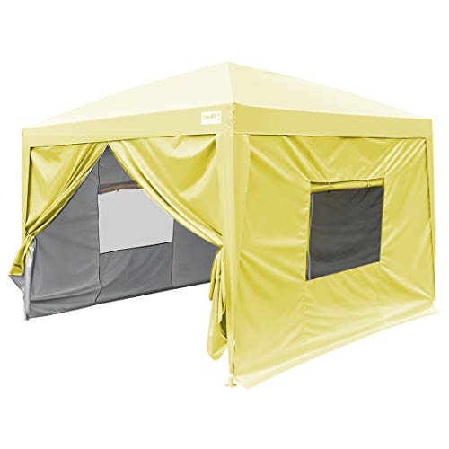 Quictent 8x8 Pop Up Canopy Instant Party Tent Height Adjustable Waterproof-3 Colors (Navy Blue)
