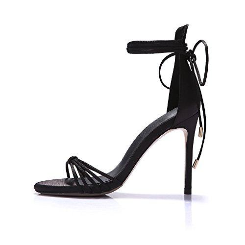 di trasversale sandali 9cm alti nuovi e tacchi rosa piedi dei sandali le Bendaggio con ZHANGYUSEN scarpe dita AxgRZqA