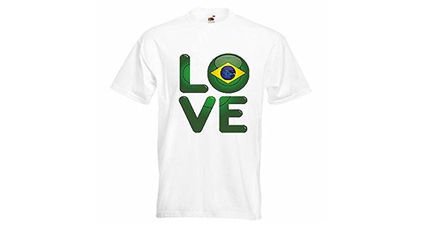 T-Shirt Camiseta Remera Amo Amo Brasil Brasil DE Brasil World ...
