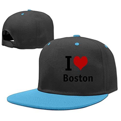 Wecottkerc Baseball Cap Classics Hip Hop Hat I Love Boston Hearts Boys-Girls Comfortable