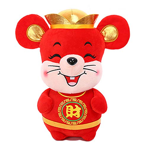 """Gloveleya 2020 Mascot Rat Zodiac Mouse Chinese New Years with """"Kung HEI Fat Choy"""" Red 6 Inches"""