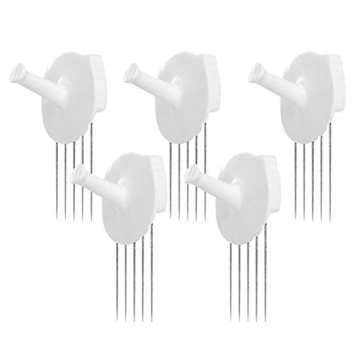 HOTLISTOR Reusable Multipurpose Wall Hook White 5PCS 10PCS Decorative Pin Stick Hooks Office Partition Panel Hanger Home Kitchen