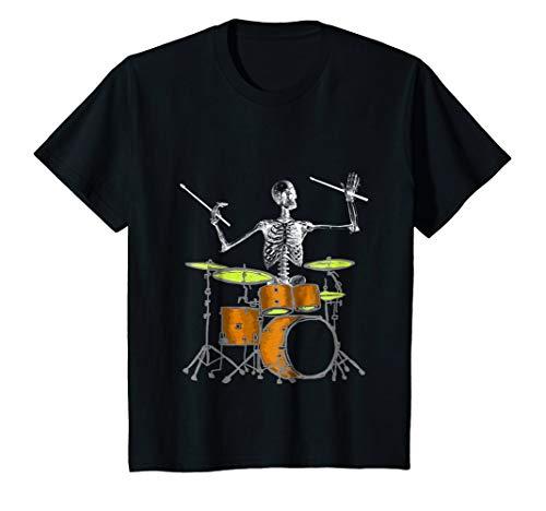 Kids Skeleton Playing Drums - Drummer T Shirt 6 Black for $<!--$19.99-->