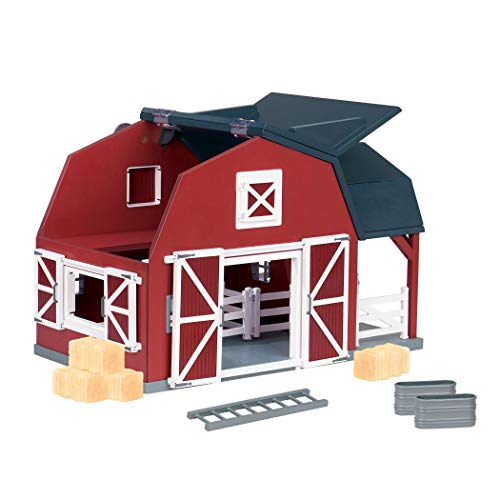 (Terra by Battat - Wooden Animal Barn - Toy Barn Farm Toys Playset for Kids 3+ (20 pc))