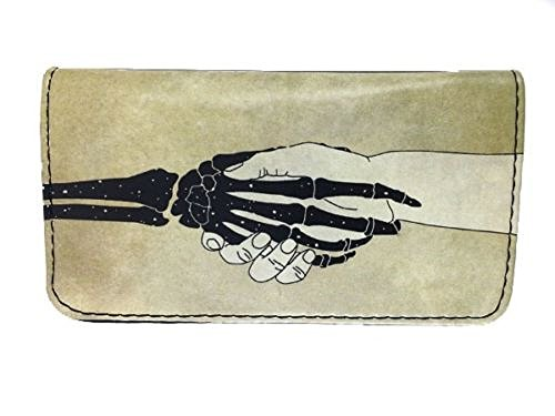 Tobacco Case Pouch Synthetic Leather Smoke For Rolling Cigars Hand VS Skull Hand by Tfar