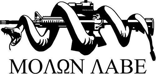 Molon-Labe-Gun-Vinyl-Decal-Sticker-Car-Window-Bumper-Wall-Decor