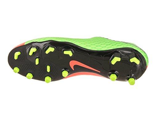 Nike Mens Hypervenom Phelon Iii Fg Soccer Cleat Elektrisk Grönt, Svart, Hyper Orange, Volt