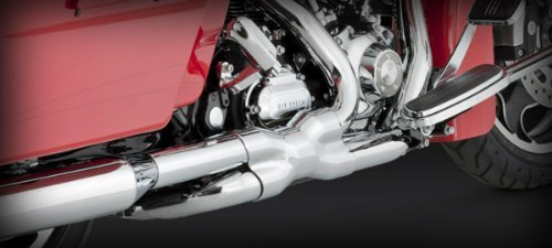 Vance & Hines Power Duals Exhaust Chrome for 2009-16 Touring ()