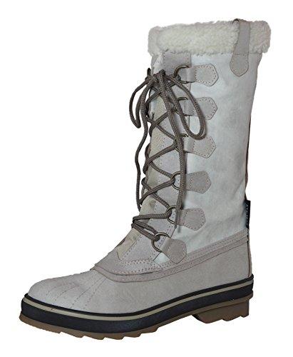 KTX Damen Winterstiefel, Snowboots, Modell INA, verschiedene Farben Ice (301)