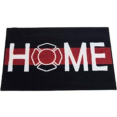 Firefighter Support Welcome Home Door Mat ~2x3 - FMS Exclusive