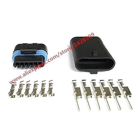 Color: 5 Sets Male Davitu 5 Sets Delphi Metri-Pack 150.2 Sealed Female Male 6 Pin GM TPS Flat Accelerator Pedal Automobile Connector 12066317 12162261