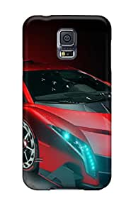 Tpu Case Cover Compatible For Galaxy S5/ Hot Case/ Lamborghini Veneno Red Art