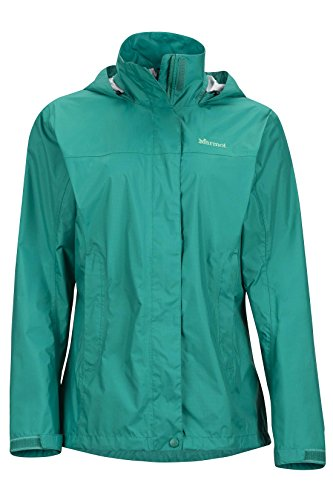 Garnet Womens Jacket - Marmot PreCip Women's Lightweight Waterproof Rain Jacket, Green Garnet, Large