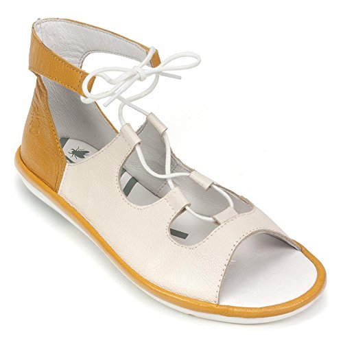 Fly London Womens Mura859fly Sandalo Off White / Mousse Al Miele