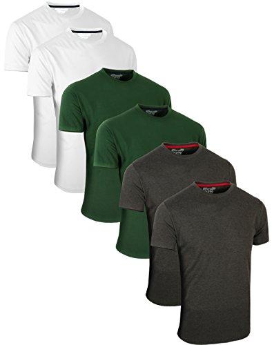 T Assortiment 3 Pack Time Kurzarm Charbon 6 Courtes shirts Rundhals Džcontractžs Hauts Langarm Sports¨ Multiple Full Blanc Manches De Gris Packs 4 CxnYqdOOXw