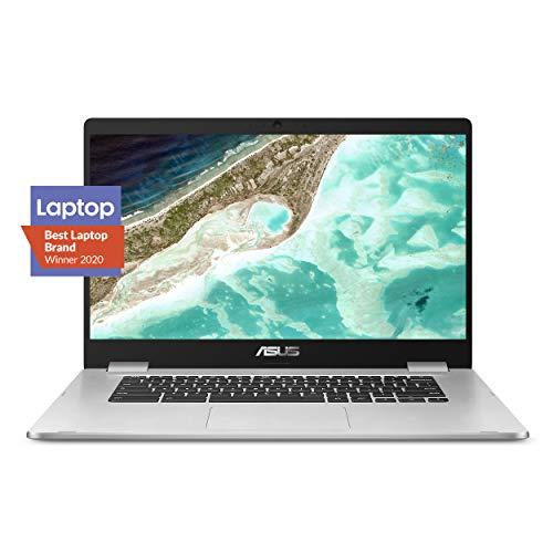 ASUS Chromebook C523 Laptop, 15.6″ HD NanoEdge-Display with 180 Degree-Hinge Intel Dual Core Celeron-Processor, 4GB-RAM, 32GB Storage, Silver Color, C523NA-DH02