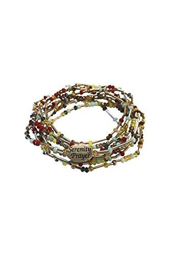 Roman Serenity Prayer Bracelet - Alexa's Angels Serenity Prayer Wrap Bracelet in Morse Code