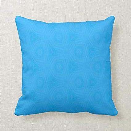 Amazon.com CELYCASY Bright Blue Decorative Pillow Case