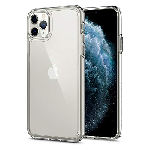 Spigen Ultra Hybrid Works with Apple iPhone 11 Pro Max Case (2019) - Crystal Clear