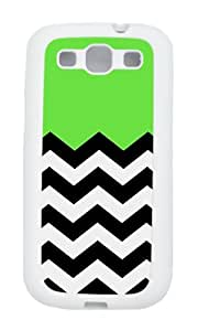 Samsung S3 Case,VUTTOO Cover With Photo: Lime Chevron For Samsung Galaxy S3 I9300 - TPU White