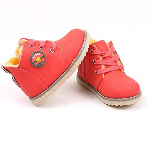 Baby Schuhe,BeautyTop Winter heißer verkauf dicke baumwolle halten warmen schnee stiefel turnschuhe schuhe für jungen mädchen Rot