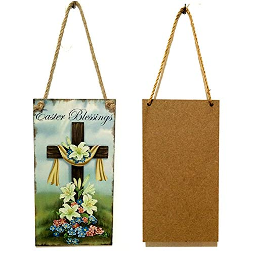 Party DIY Decorations - Bedroom Wooden Living Room Restaurant Craft Jesus Resurrection Wall Easter Cross Commemorating Home - Party Decorations