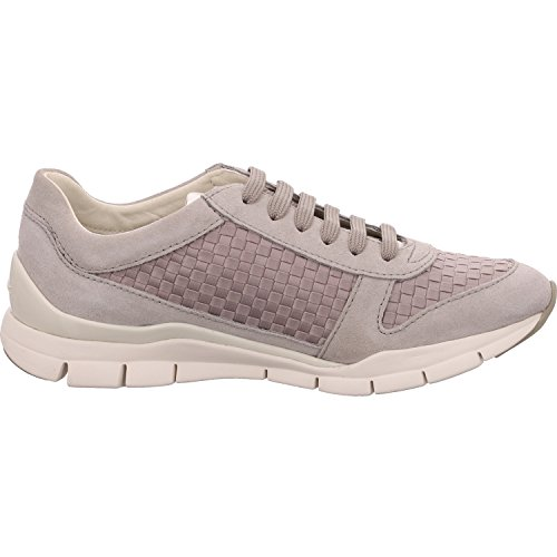 Femme Basses Geox Weiß IVORYC1008 Lt Sukie A Grey Baskets wInqFRA