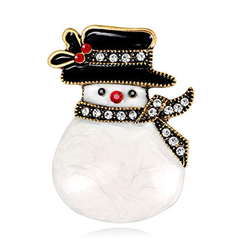 - JAGENIE Christmas New Year Snowman Brooch Hat Antique Fashion Scarf Corsage Pins