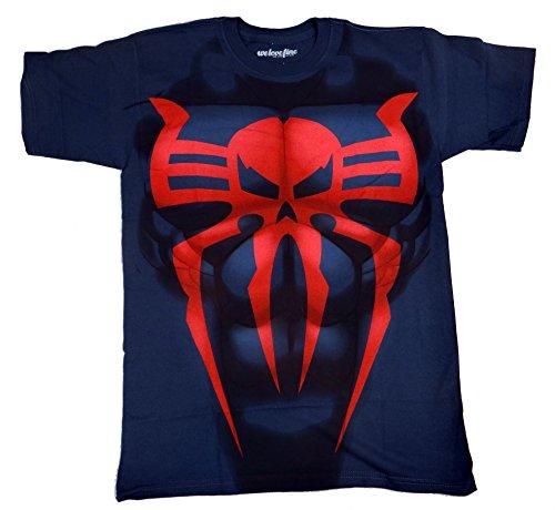 Spider-Man 2099 I Am Costume T-shirt (Extra Large, Blue)