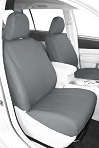 "CalTrend Front Row Bucket Custom Fit Seat Cover for Select Toyota Camry Models - ""I Can't Believe It's Not Leather"" (Light Grey)"