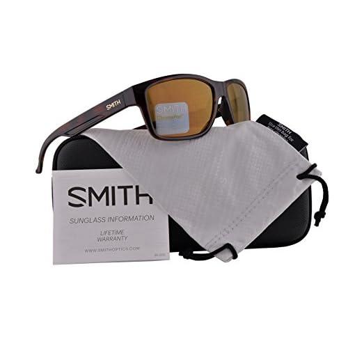 "SMITH /""WOLCOTT/"" Sunglasses Black Frame ChromaPop Polarized Gray-Green Lens"