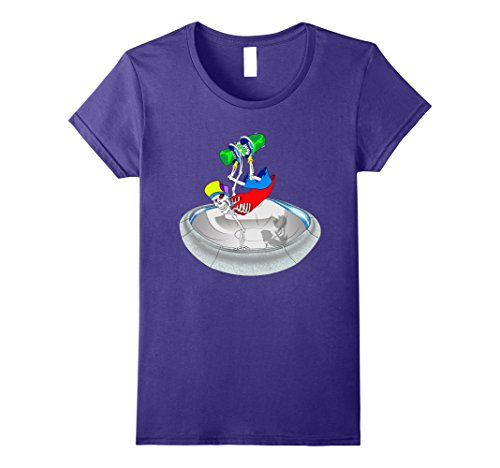 Womens Skateboard T-Shirt Layback Invert Skateboarder Pool Skating Medium Purple