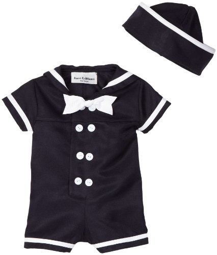 Rare Editions Baby-boys Newborn Nautical Boy Suit with Hat