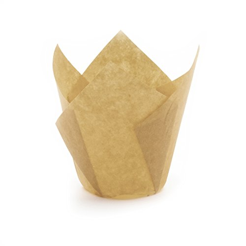 Gold Tulip Baking Cups, Mini Size, Pack of 250 by Ecobake