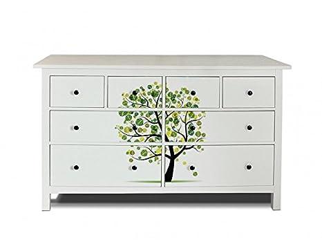 yourdea Muebles de pantalla para cómoda de Ikea hemnes 8 cajones/Muebles de pegatinas para diseñar Incluso/ - pegatinas adhesivas con diseño hojas Árbol ...