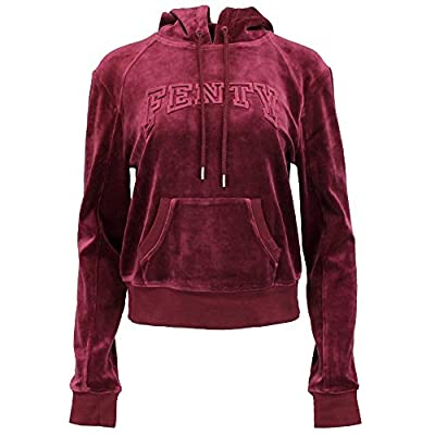 PUMA Womens x Fenty by Rihanna Velour Fitted Pullover