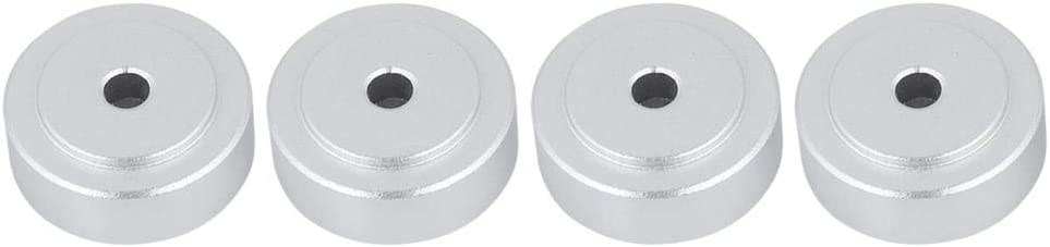 Jadeshay 4 pcs Aluminum Speaker Isolation Feet Pad Silver 208mm Aluminum Alloy Amplifier Feet Shock Absorber Amplifier Pads Feet
