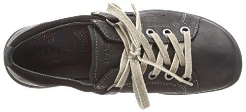 Negro Milano Negro Legero con Mujer Zapatos de Cordones 02 Kombi Negro Cuero 4xHqx6