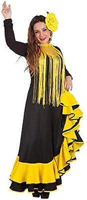 LLOPIS - Disfraz Adulto Falda rociera Amarilla: Amazon.es ...