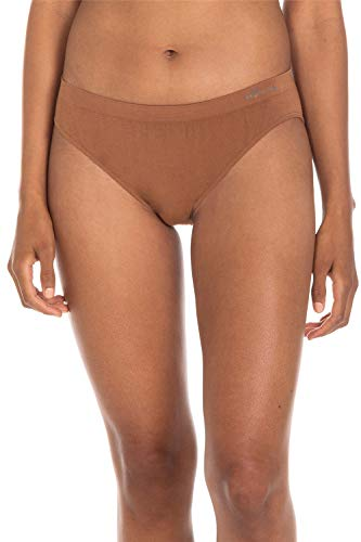 Boody Body EcoWear Women's Classic Bikini Underwear Made from Natural Organic Bamboo Viscose - Soft Breathable Eco Fashion for Sensitive Skin - Nude 4, Large, Two Pack