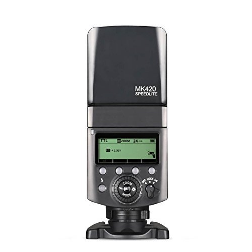 Meike MK420S Professional TTL Li-ion Batteies Flash Speedlite with LCD Display for Sony Mi Hot Shoe Mount Camera+ Lithium Battery +Diffuser+Battery Charger by Meike