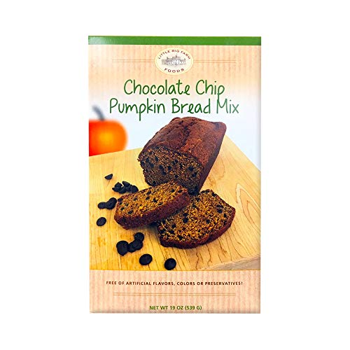 Little Big Farm Foods Chocolate Chip Pumpkin Bread Mix, 19 oz (1 pack)
