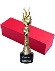 Hars trofee Haan kristallen trofee Creatieve Gouden Haan Trofee Wedstrijd prijzen Belettering om trofeeën te maken Geschenkpakket