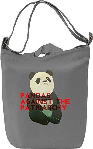 Pandas Against The Patriarchy Borsa Giornaliera Canvas Canvas Day Bag| 100% Premium Cotton Canvas| DTG Printing|