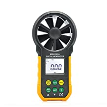 EarMe MS6252A Digital Anemometer Handheld Electronic Wind Speed Meter Temperature Wind Chill Air Volume Measuring Meter LCD Display with Backlight For Outdoor Windsurfing/Sailing/Surfing/Fishing/Industry Mesurement