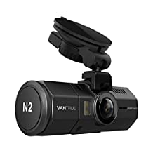 """Vantrue N2 Dual Dash Cam - 1080P FHD +HDR Front and Back Wide Angle Dual Lens 1.5"""" LCD In Car Dashboard Camera DVR Video Recorder with Night Vision, G-Sensor, Parking Mode & Loop Recording"""