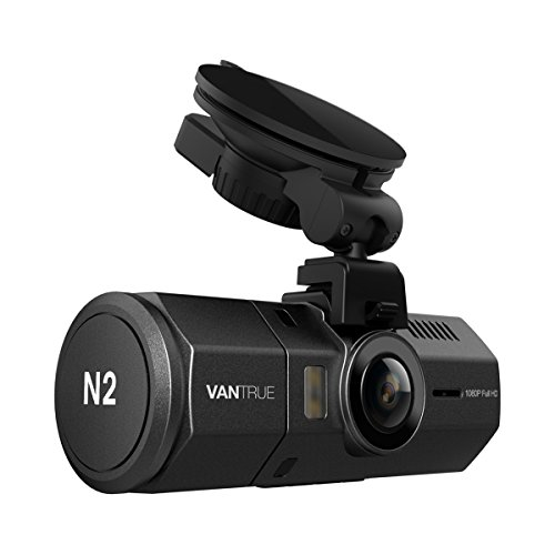 Vantrue N2 Dual Dash Cam - 1080P FHD +HDR Front and Back Wide Angle Dual Lens 1.5