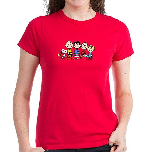 CafePress Peanuts Gang Women's Dark T-Shirt - Womens Cotton T-Shirt