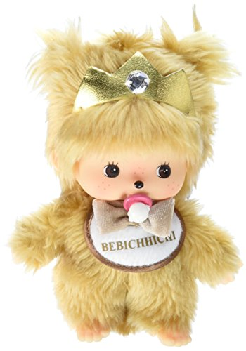 Sekiguchi Monchhichi 10th Anniversary Gold Bebichhichi Baby Girl Stuffed Plush with Crown