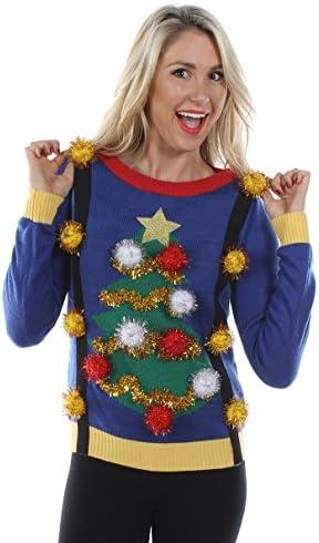 Tipsy Elves Damen Pullover mit Strapsen